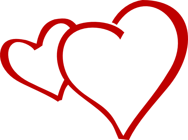 graphic free Double heart clipart black and white. Two hearts at getdrawings