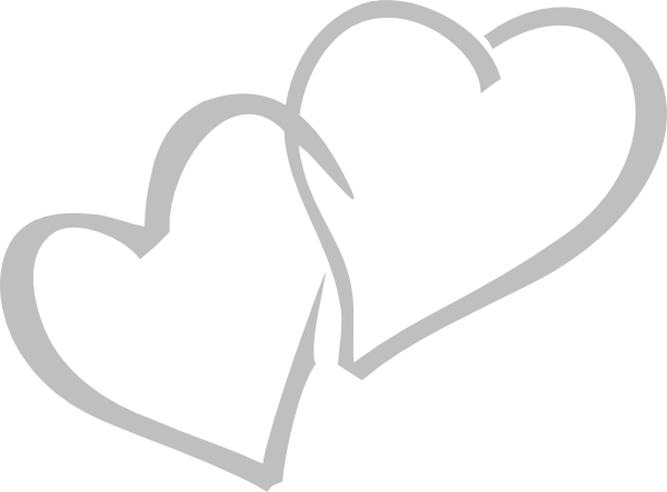 image freeuse stock Hearts clip art at. Double heart clipart black and white