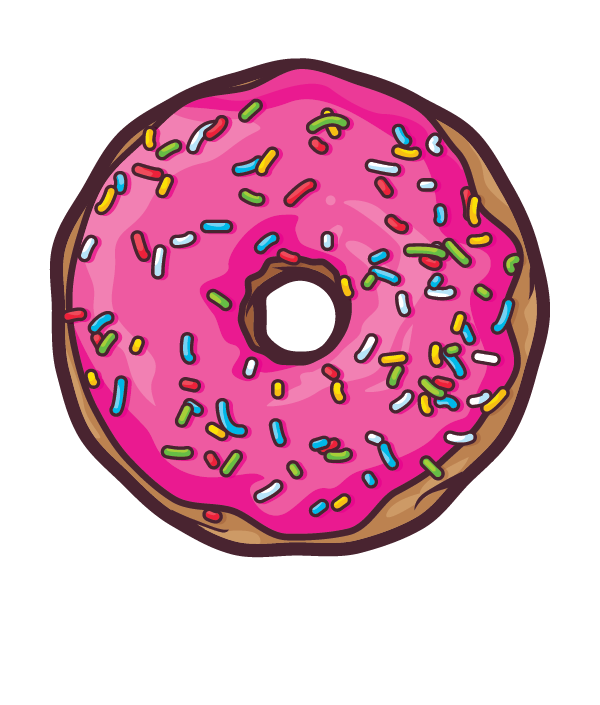 svg transparent download Donuts by javier padilla. Vector donut bite