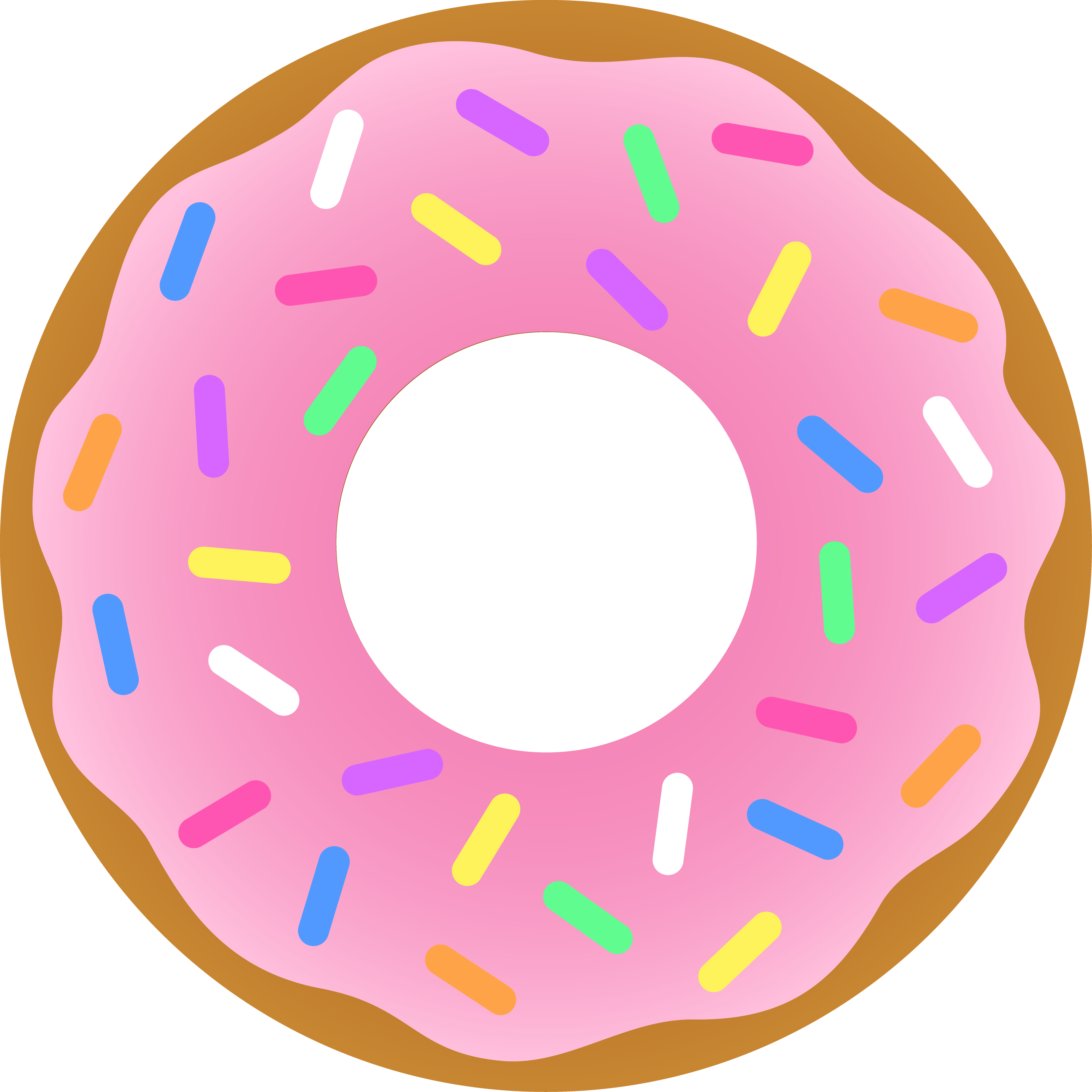 graphic free download Doughnut clipart. Free