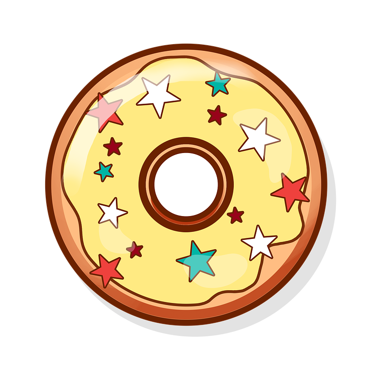 royalty free library Doughnut clipart. Sugary food free on