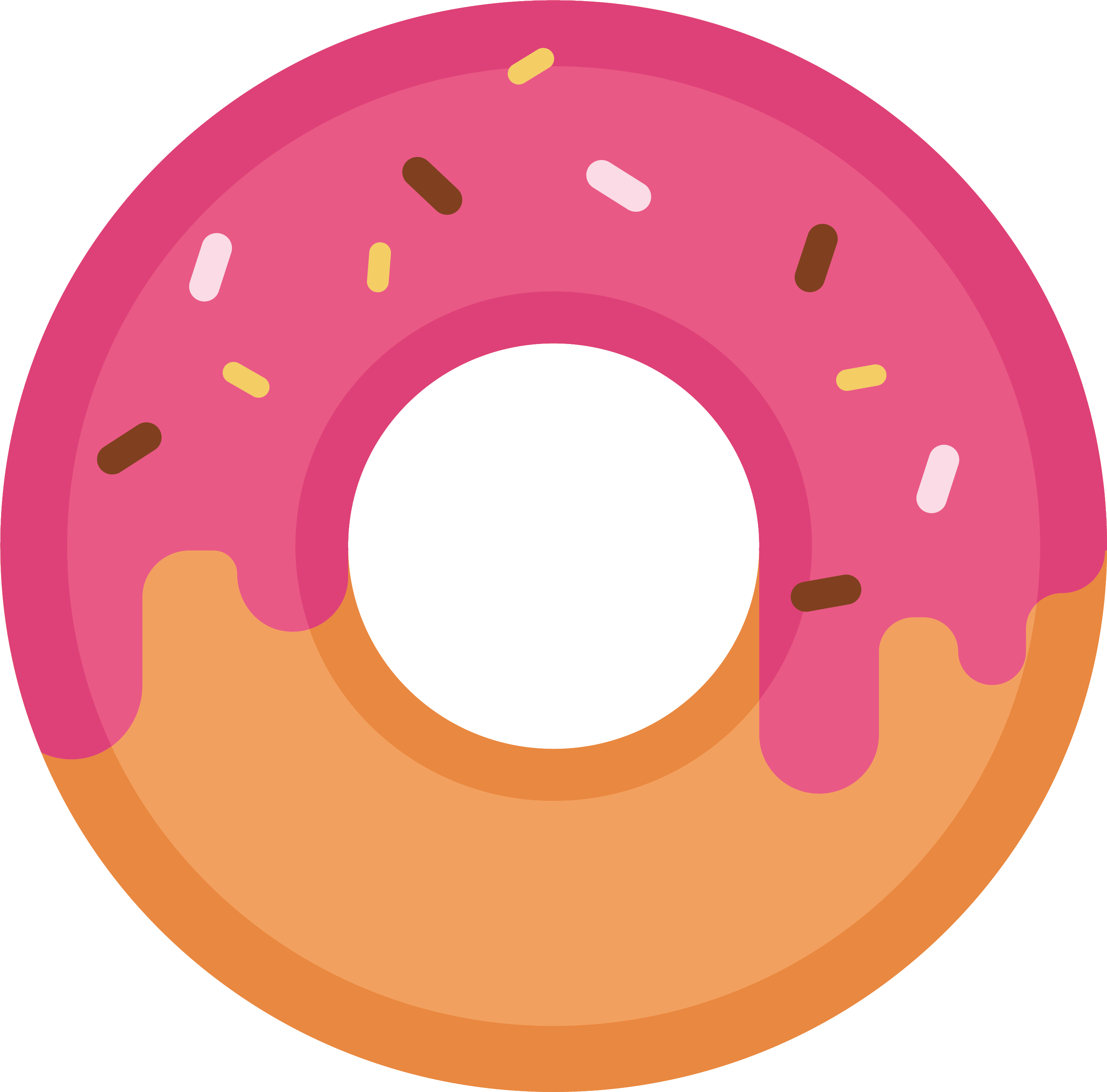 clip art library library Doughnut drawing dessert icon. Vector donut cartoon strawberry