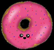 royalty free download doughnut drawing cute #93485346