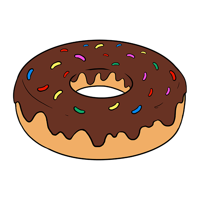 svg royalty free download How to Draw a Donut