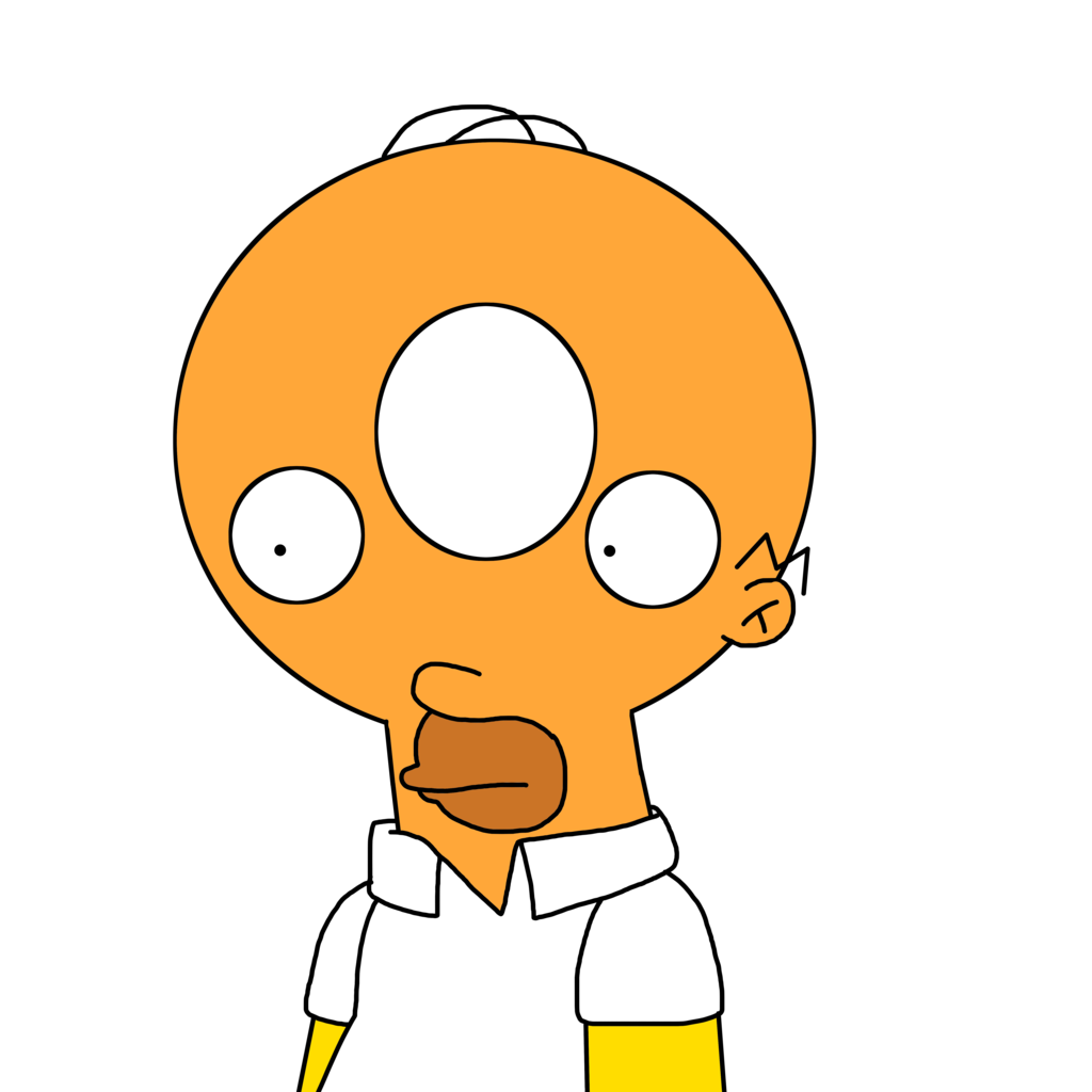 banner transparent library Homer with Donut head by MarcosPower