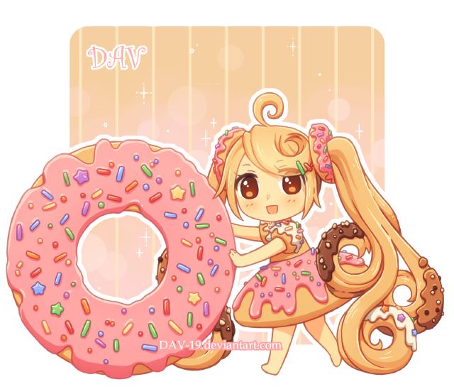 svg transparent stock Donut by DAV