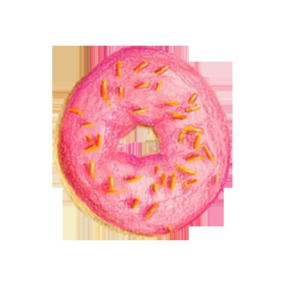 banner download Doughnut food drawing illustration. Vector donut illustrator
