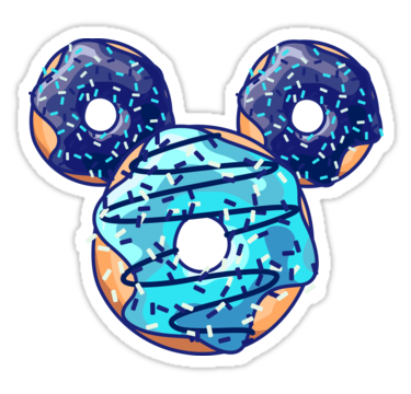 clip black and white library Pop Blue Donut