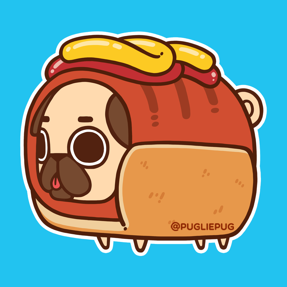 svg transparent Puglie photo donuts in. Doughnut drawing pug