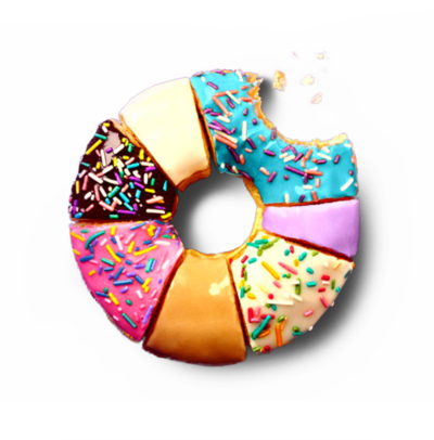 banner freeuse library doughnut drawing realistic #93484812