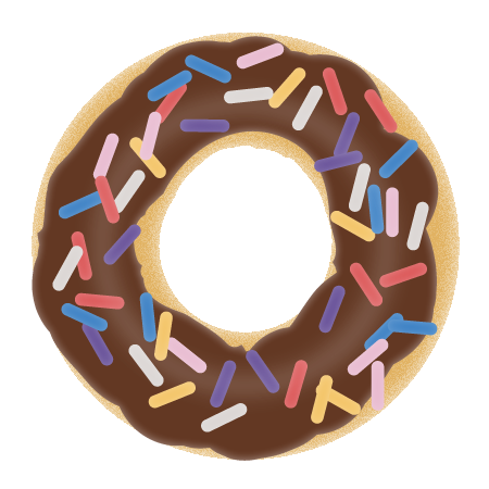 transparent download Simple donut drawing