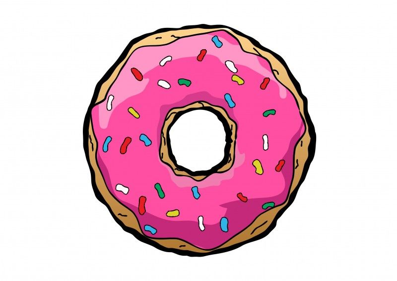 clip royalty free download Vector donut simple. Free drawing illustration