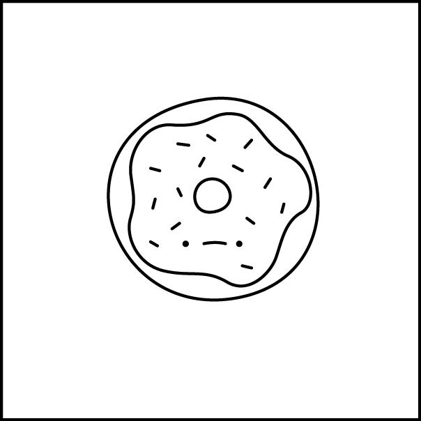 image royalty free stock doughnut drawing small #134055623