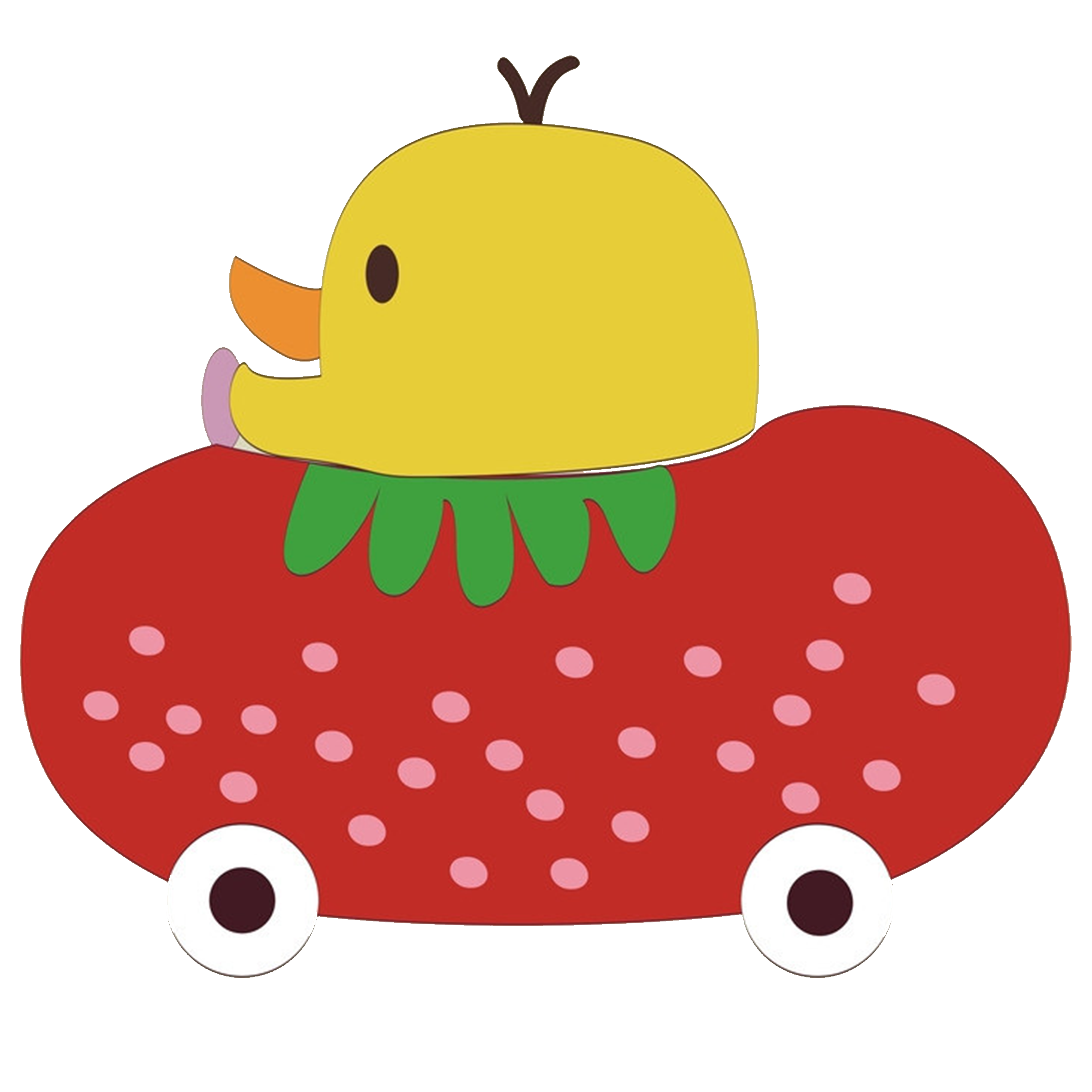 vector library download Strawberry duck transprent png. Drawing strawberries cartoon