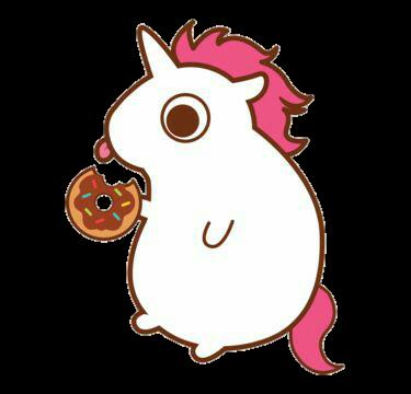 jpg royalty free unicorn donut eat tumblr sticker