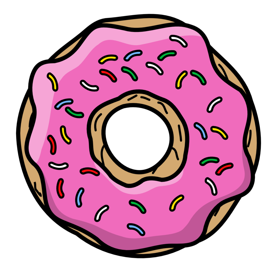 clip black and white Vector donut simpson. Cartoon by thegoldenbox on