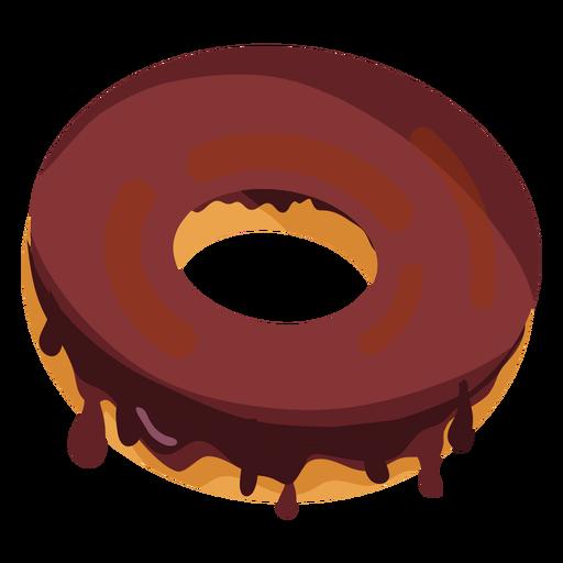 jpg black and white Vector donut red. Chocolate doughnut illustration transparent