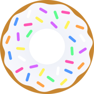 clipart black and white Vanilla sprinkles free images. Vector donut design