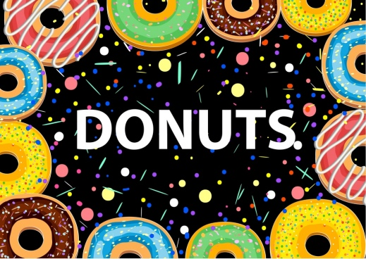 picture library stock Free download for commercial. Vector donut background