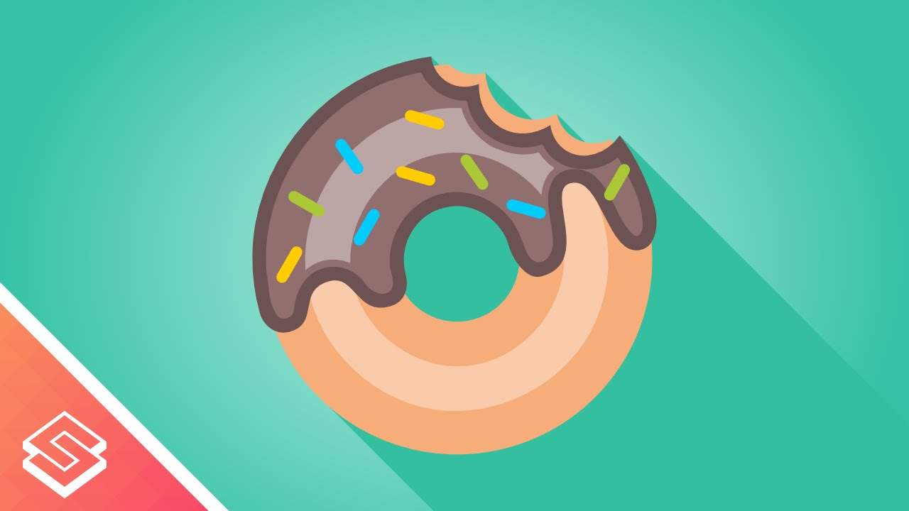png royalty free library Inkscape tutorial . Vector donut simple