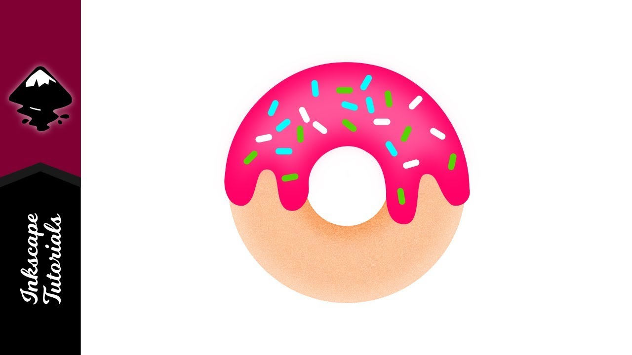 clip art royalty free download Inkscape tutorial create a. Vector donut icing