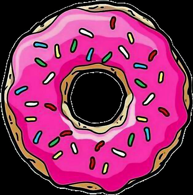 graphic Tumblr homer simpsons sticker. Vector donut simpson