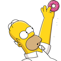 graphic library stock Homer icon simpsons iconset. Vector donut simpson