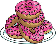 svg stock Vector donut simpson. The simpsons tapped out