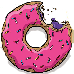 vector transparent download Vector donut homer. Simpson tattoo pinterest donuts