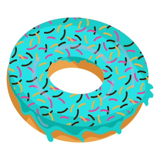 clip art free Blue glaze doughnut illustration. Vector donut transparent