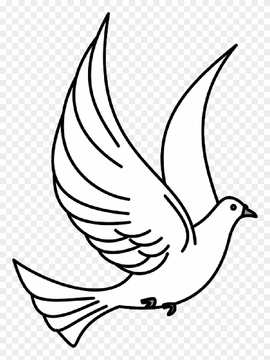 vector black and white library Memorial clip art png. Dove clipart