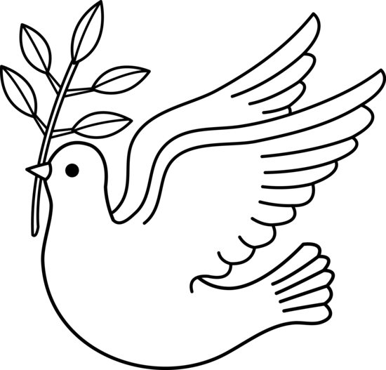 picture stock Line drawing dove at. Doves clipart cute.