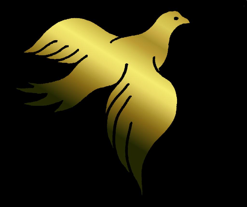 clip art stock Gold dove clipart