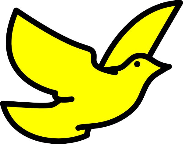 banner royalty free library Yellow Dove Clip Art at Clker