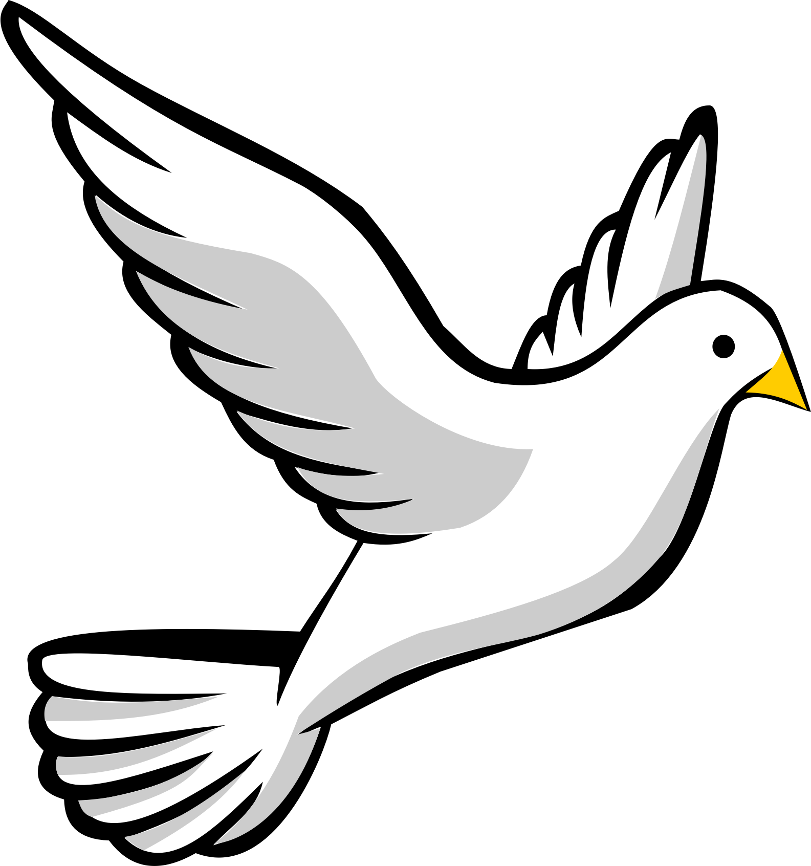 banner royalty free . Dove clipart