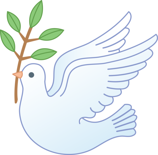 graphic black and white download Dove With Olive Branch Clipart
