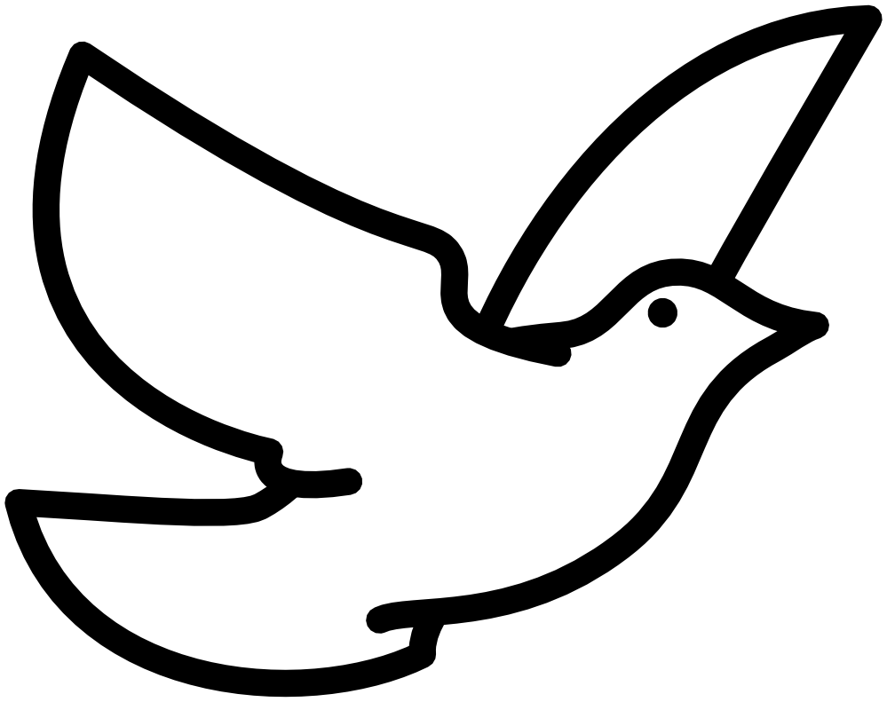 vector black and white download Doves clipart. Dove black and white.