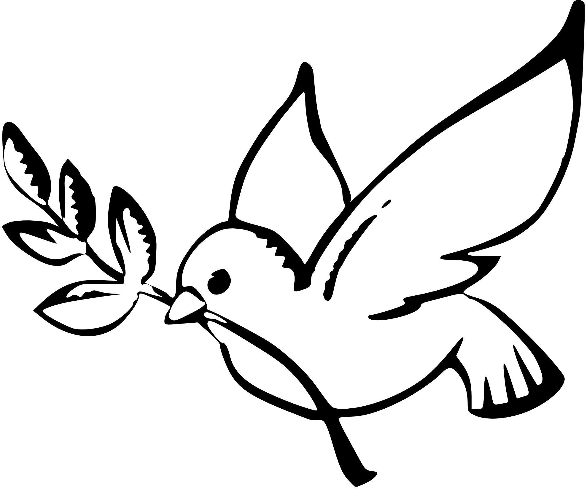 svg royalty free Line Drawing Dove at GetDrawings
