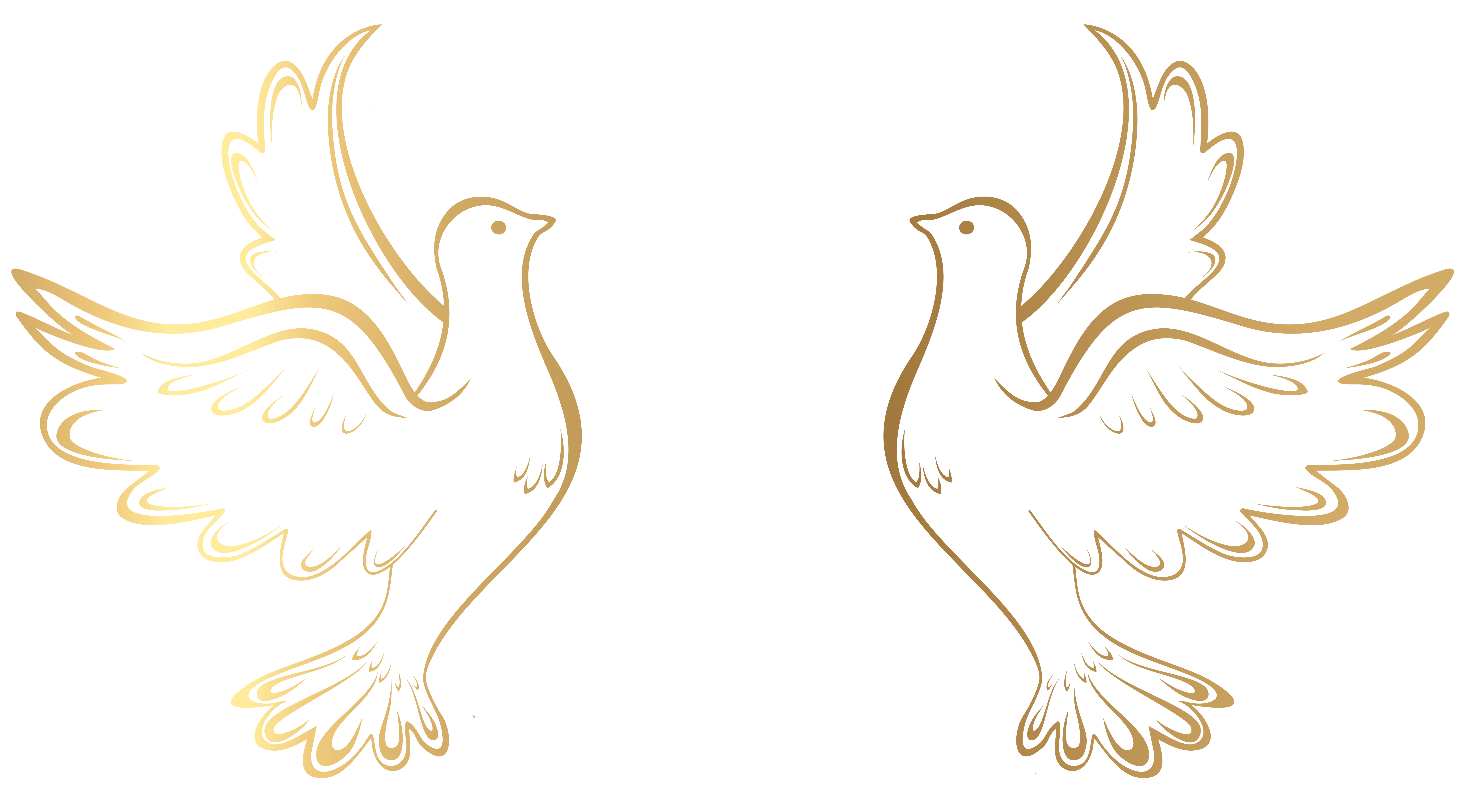 clip art royalty free stock Gold clipart dove.  collection of transparent