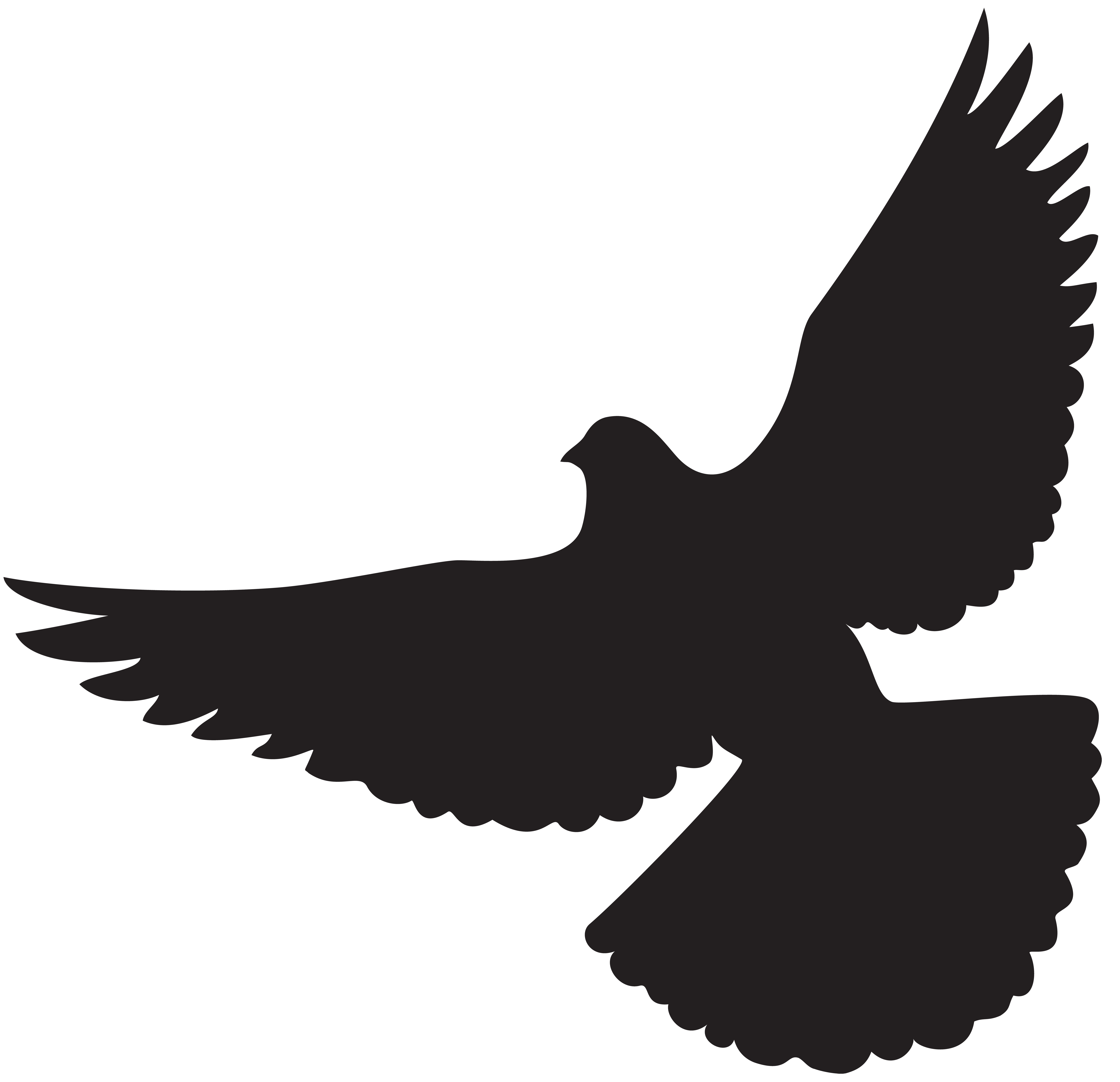 jpg royalty free library Silhouette png clip art. Gold clipart dove