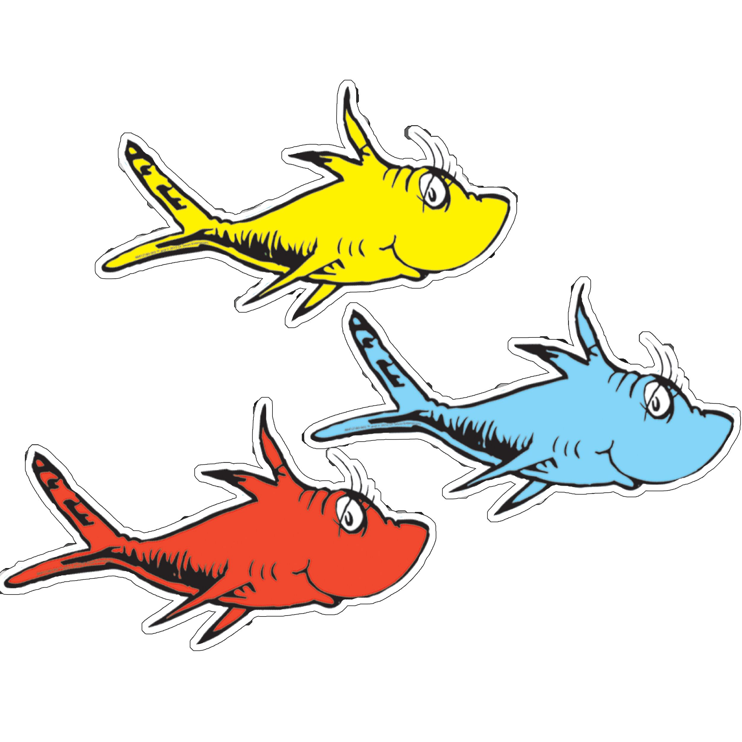 vector black and white Dr seuss clipart red fish. One two assorted paper