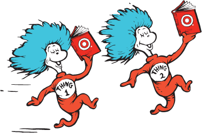 library Dr seuss clipart red fish. Thing one and two
