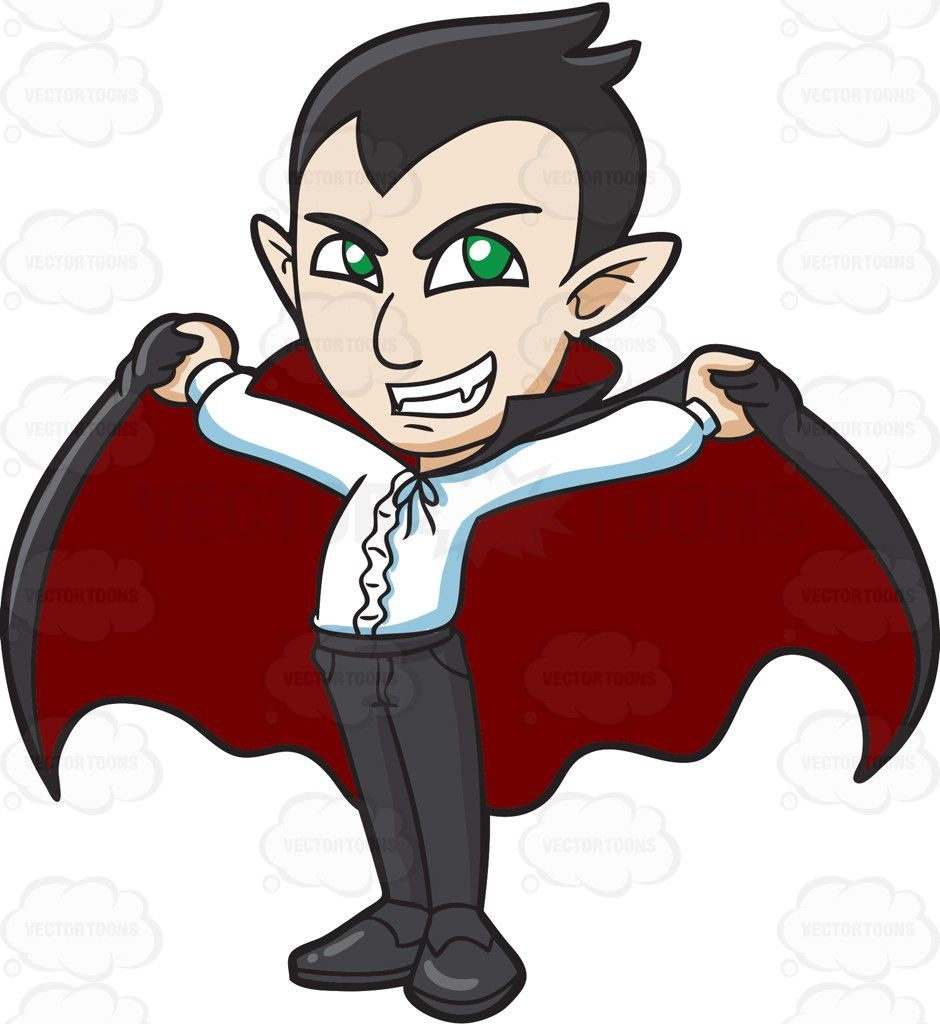 png royalty free library A proud vampire cartoon. Dracula clipart.