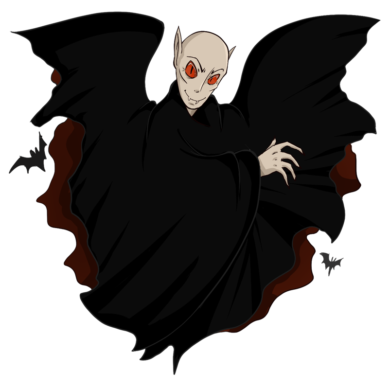 vector black and white library Dracula clipart. Free cliparts download clip.