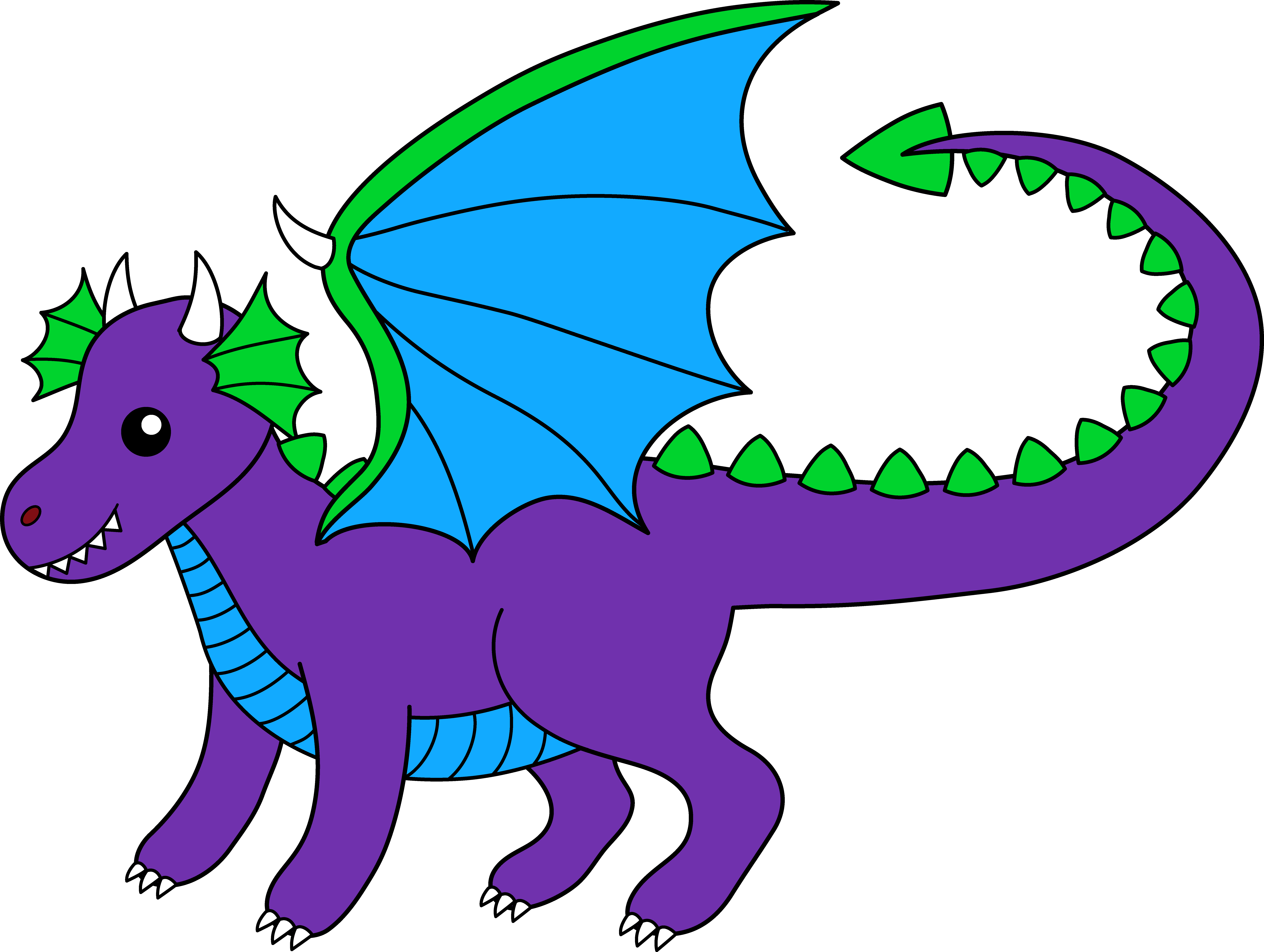 image transparent library Dragon clipart. Purple .