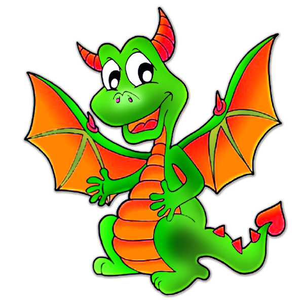 download Dragon clipart. Baby cute dragons cartoon