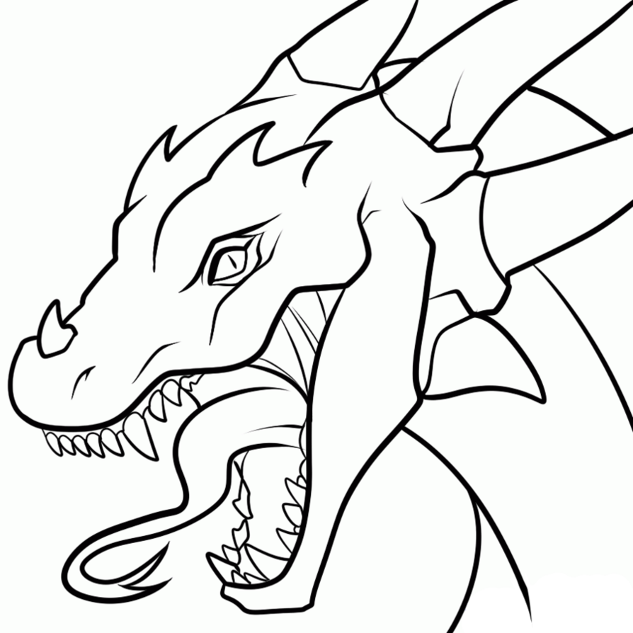 clipart library library Line Drawing Dragon at GetDrawings