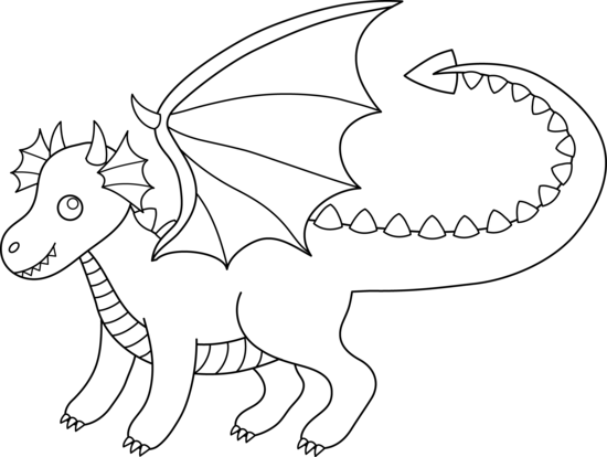 clip art royalty free stock Drawing printables dragon. Free line cliparts download