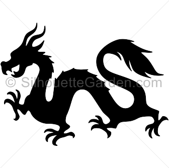 svg freeuse download Chinese dragon silhouette clip art