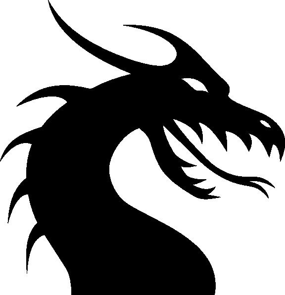 clipart Claw vector dragon. Simple head clip art